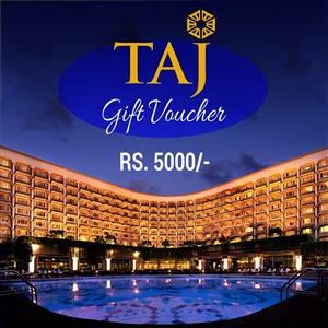 Taj Gift Voucher for Rs.5000/-