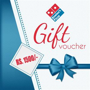 Dominos Gift Vouchers Rs1,500/-
