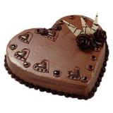 Heart Shape Chocolate Cake - 1 Kg