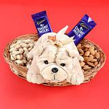 Soft Toys and Treats in a Basket