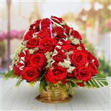 50 Roses Basket (Midnight)