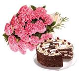 Cake with Carnation (Midnight)